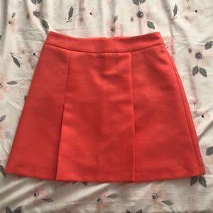 Coral A-Line Miniskirt